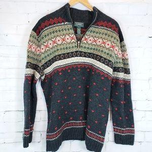 Lauren Ralph Lauren Hand Knit Wool Nordic Sweater
